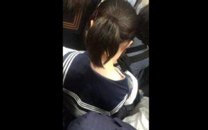埼京線の新宿駅で盗撮された素人JKの痴漢エロ動画が流出した個人撮影